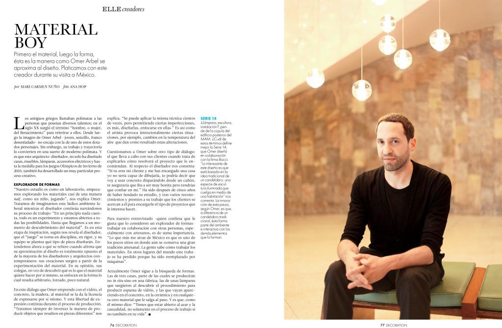 Portrait for ELLE Magazine